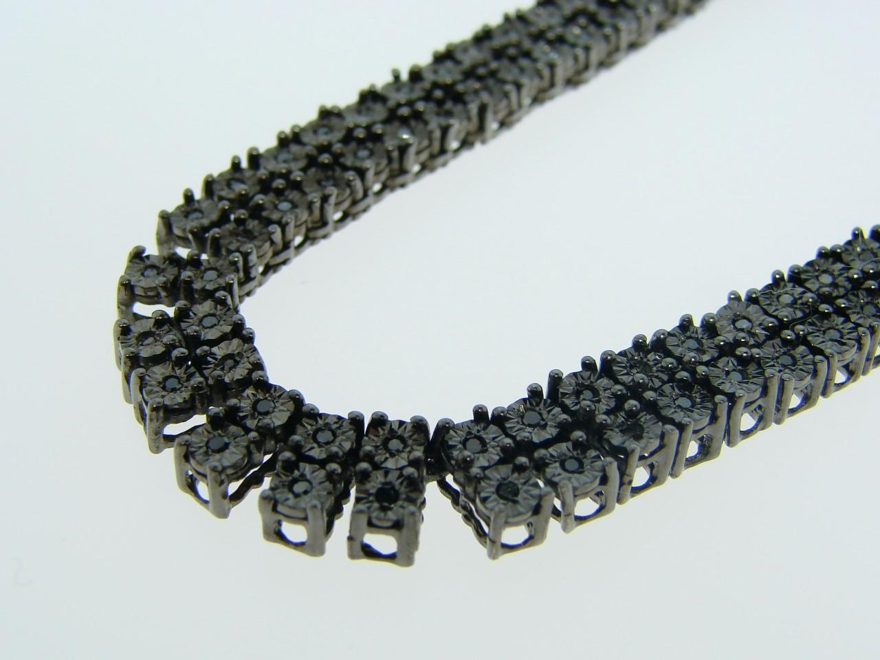new_york_jewels: MENS 2 ROW FANOOK BLACK ON BLACK DIAMOND ...  new_york_jewels...