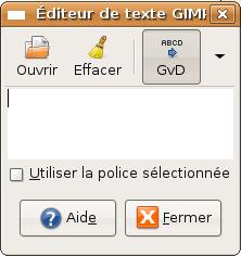 editeur de texte gimp