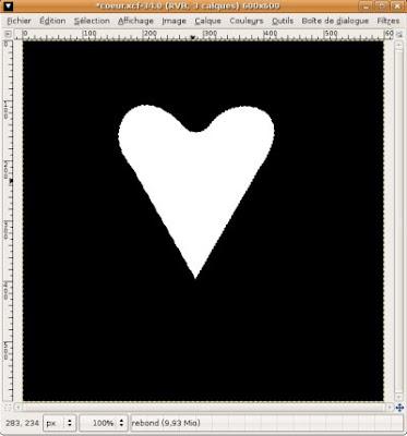 gimp remplissage coeur