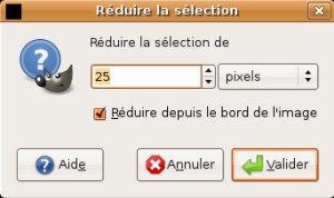 gimp reduire selection