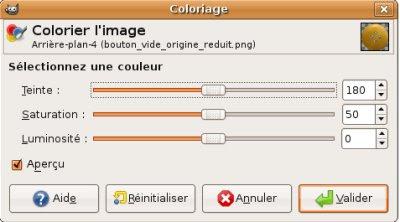 Gimp Digiscrap menu coloriser