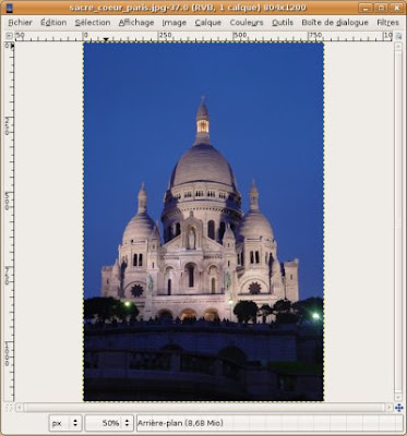 gimp photo sacre coeur paris