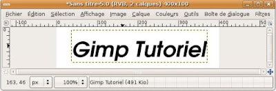gimp animation blinkie texte