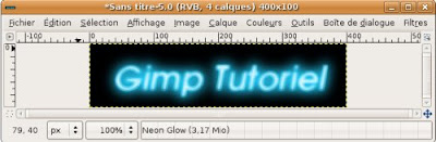 gimp animation neon