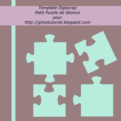 template puzzle digiscrap