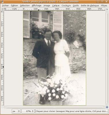 outil clonage sur photo ancienne