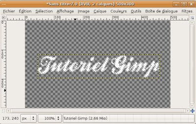 verre transparence gimp tutoriel