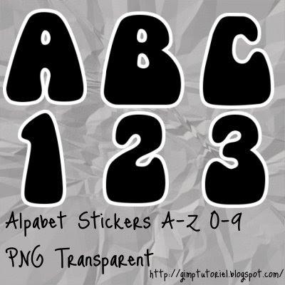 alphabet stickers scrapbooking digital