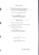 DESPACHO DO JUIZ - MANDADO DE SEGURANÇA UVA 2008 0020 6950 0/0