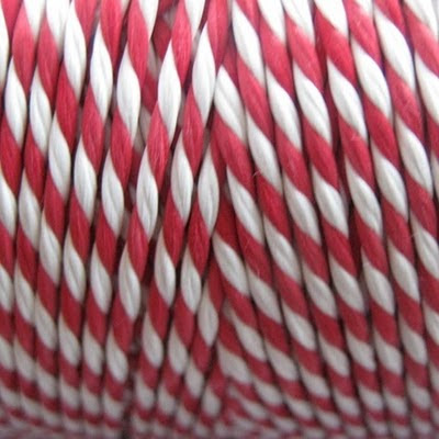 red + white baker's twine