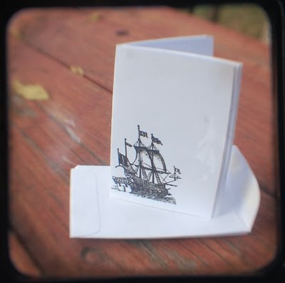 pirate ship notecards