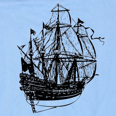 pirate ship motif