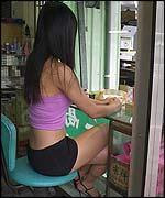 sexy lady selling betel nut