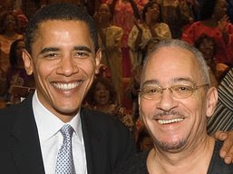 Barack Obama and pal, the Rev. Jeremiah Wright