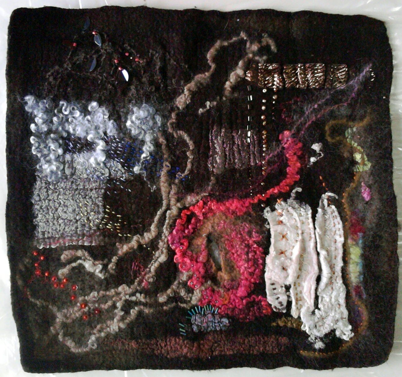 abstract feltmaking piece