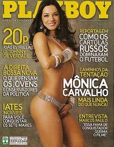 Revista Playboy M Nica Carvalho Fevereiro De