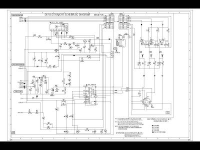 SCHEMATIC DIAGRAM: Toshiba TV scheme and diagram