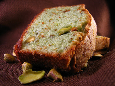 the barmy baker: Perfectly Pale Green Pistachio Pound Cake