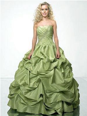Vestido De 15 Años Color Verde Vestidos Para Tu Fiesta