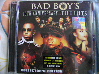 Bad Boy's 10th Anniversary The Hits CD P Diddy 50 Cent Notorious B.I.G. Busta Rhymes Lloyd Banks Mario Winans Total 112 MASE Carl ThomasFaith Evans Lil Kim Rap
