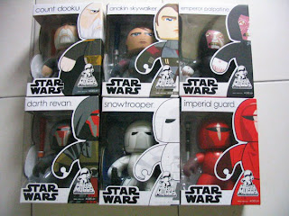 Star Wars Mighty Muggs lot Emperor Palpatine with force lightning Count Dooku light saber Anakin Skywalker Darth Raven Imperial Guard force spike Snowtrooper blaster