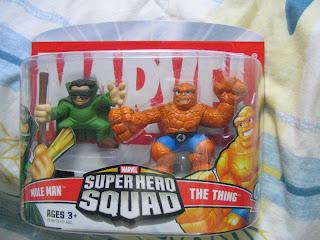 Marvel Superhero Squad Fantastic Four Super Hero Squad Galactus Invisible Woman Super Skrull Human Torch Mole Man Thing Ben Grimm Johnny Storm Namor Dr Doom Silver Surfer