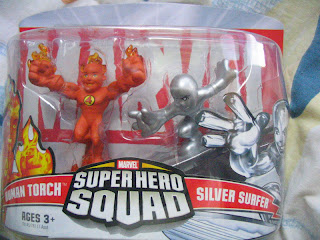 Marvel Superhero Squad Fantastic Four Super Hero Squad Galactus Invisible Woman Super Skrull Human Torch Mole Man Thing Ben Grimm Johnny Storm Namor Dr Doom Silver Surfer
