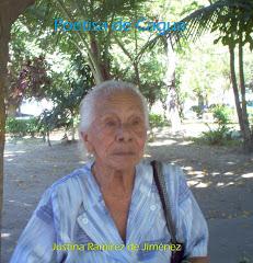 JUSTINA RAMÍREZ DE JIMÉNEZ. /  POETIZA DE CAGUA.