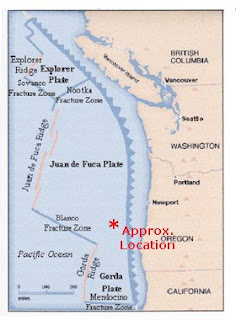 Juan de Fuca Plate, Earthquakes, April 12, 2008