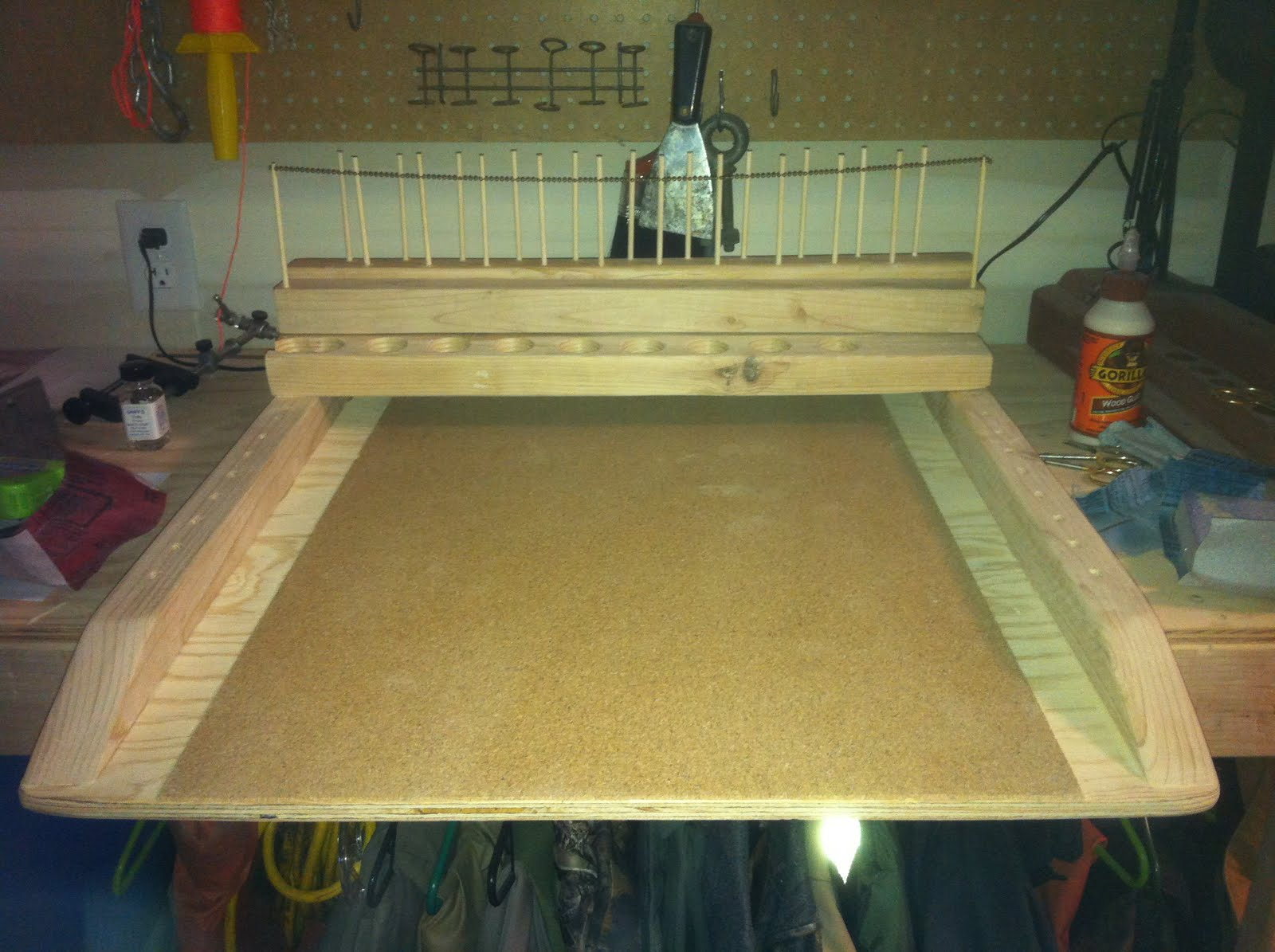 shed plan free: portable fly tying bench plans wooden plans