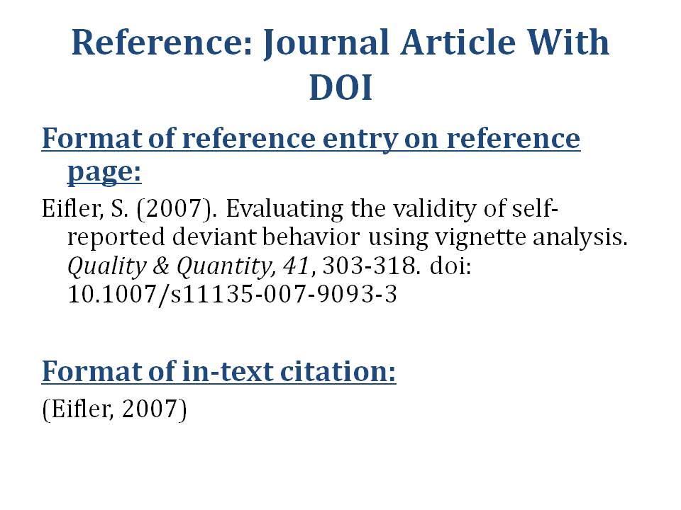 APA Journal Article Citation
