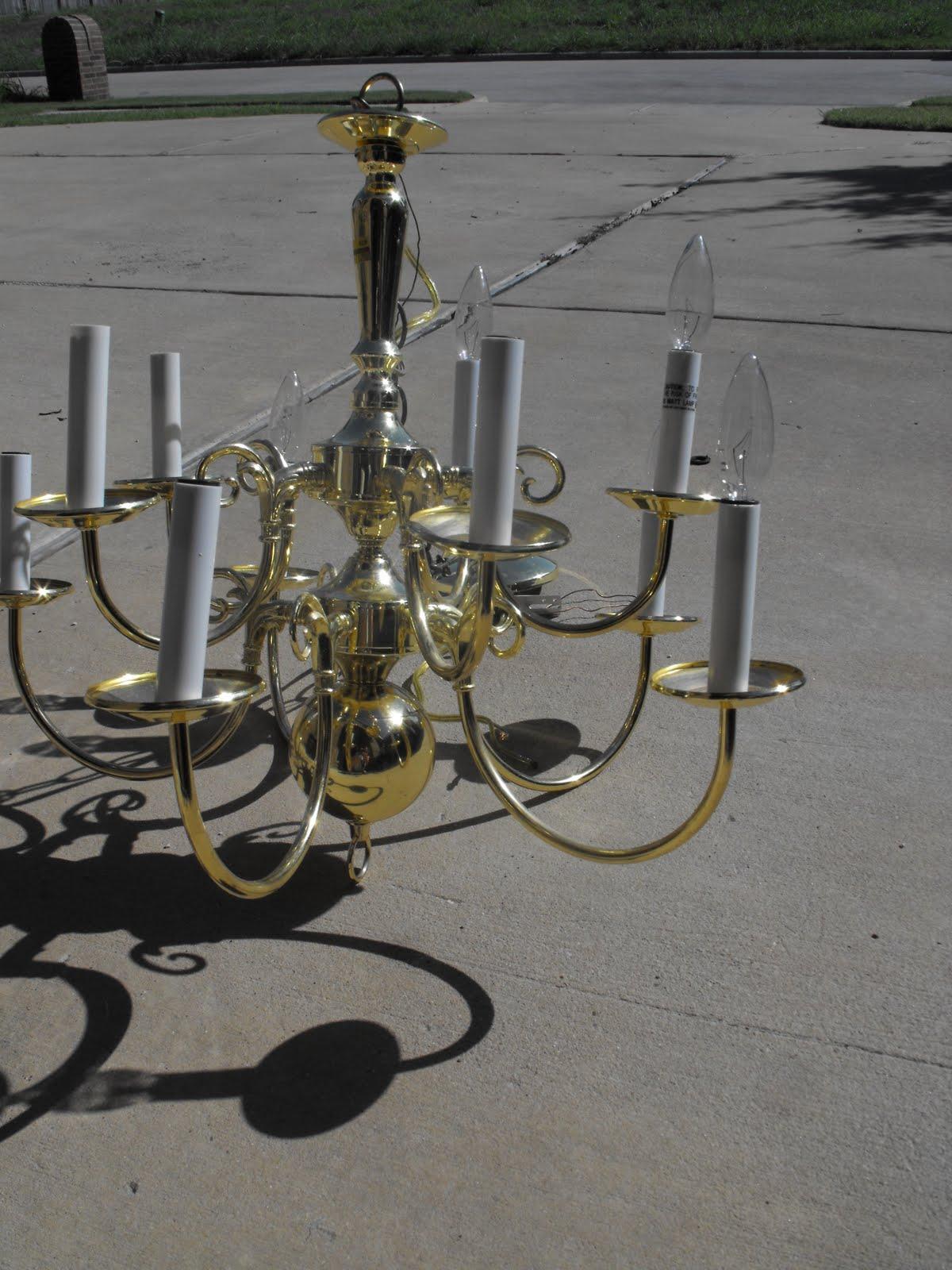Remodelaholic diy brass chandelier makeover diy brass chandelier makeover aloadofball Image collections