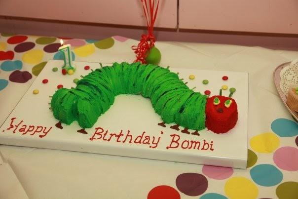 Hungry Little Caterpillar Birthday Cake