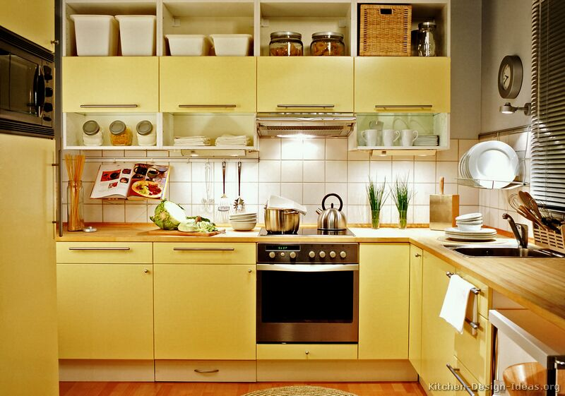 Cabinets for Kitchen: Yellow Kitchen Cabinets - Color Ideas