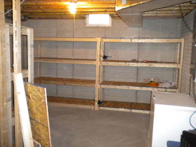 Our Rather Simple Yet Chaotic Life Basement Shelves Complete
