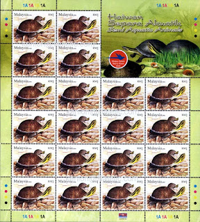 Semi Aquatic Animals RM1 Stamps Sheet