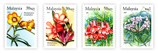 Rare Flowers Stamps