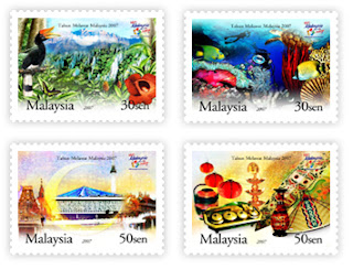 Visi tMalaysia Year Stamps
