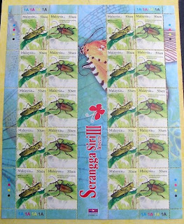 Insects 50c Sheet