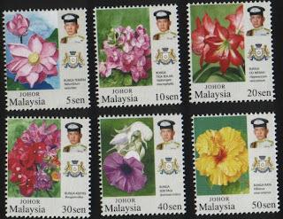 Johor Garden Flowers Stamps