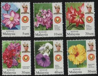 Kedah Garden Flowers Stamps