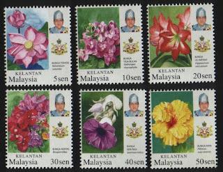 Kelantan Garden Flowers Stamps