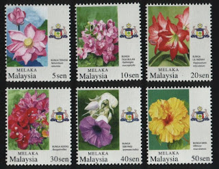 Melaka Garden Flowers Stamps