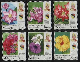 Negeri Sembilan Garden Flowers Stamps