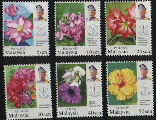Pahang Garden Flowers Stamps