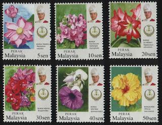 Perak Garden Flowers Stamps