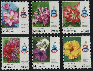 Sabah Garden Flowers Stamps