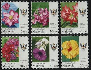 Sarawak Garden Flowers Stamps