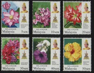 Selangor Garden Flowers Stamps
