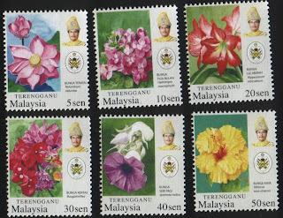 Terengganu Garden Flowers Stamps